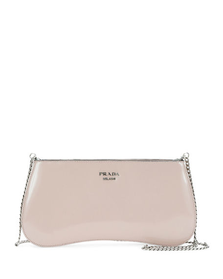 3d0464bd0c8f Prada Manuelle Spazzolato Shoulder Bag In Light Pink