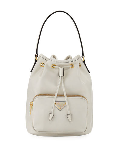 83eebe43e470 Leather Bucket Bag Quick Look. Prada