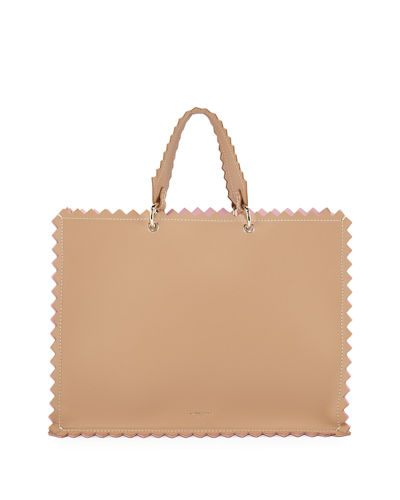 Helena Leather Metallic Tote Bag