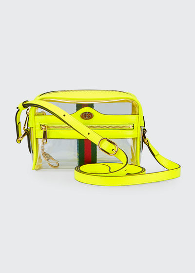 Ophidia Mini See-Through Vinyl Crossbody Bag