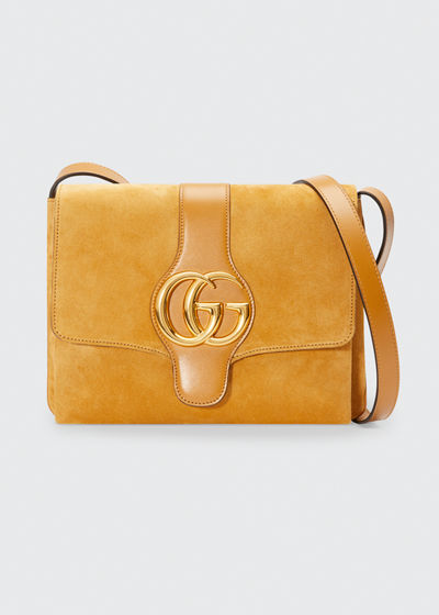 be0505469a93 Gucci Arli Medium Suede Shoulder Bag