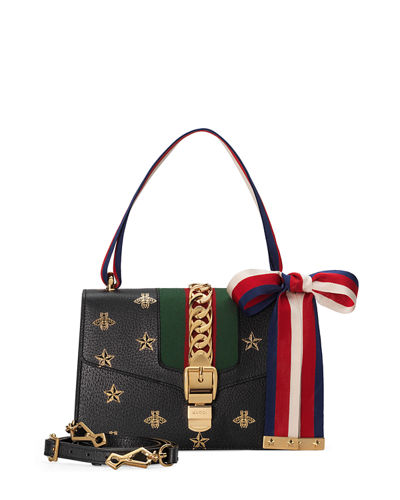 Sylvie Small Bee & Star Shoulder Bag