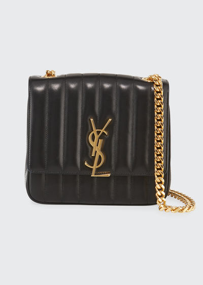 a45252753d91 Vicky Medium YSL Monogram Chain Crossbody Bag Quick Look. BLACK  DARK  GREEN. Saint Laurent