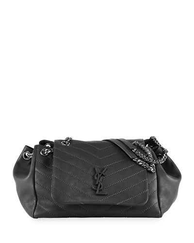 c29ececcca7 Saint Laurent Nolita Large Monogram YSL Double Chain Shoulder Bag