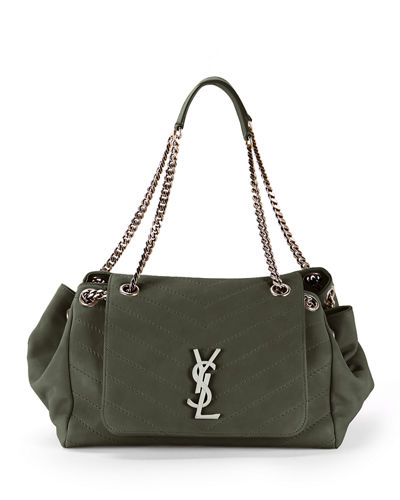 Nolita Large Monogram YSL Double Chain Shoulder Bag