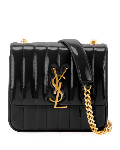 6e0a159ef80 Vicky Medium YSL Monogram Patent Chain Crossbody Bag Quick Look. BLACK. Saint  Laurent
