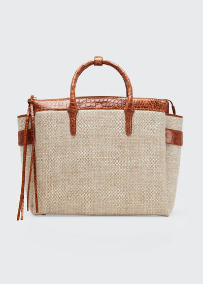 Cristie Medium Linen Tote Bag