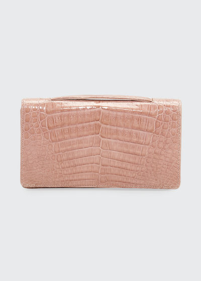 Linda Evening Crocodile Clutch Bag