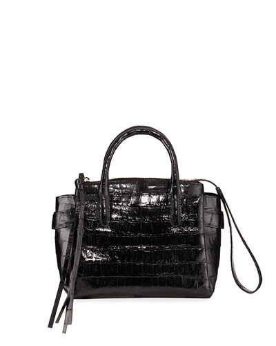 Cristy Small Crocodile Satchel Bag