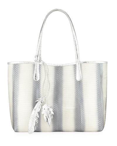 Erica Two-Tone Snake/Crocodile Tote Bag