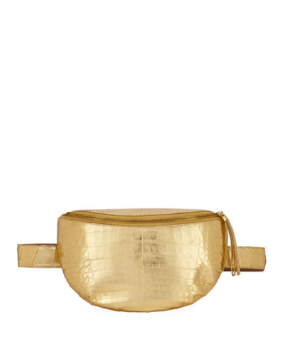 Nancy Gonzalez Lola Small Metallic Crocodile Belt Bag