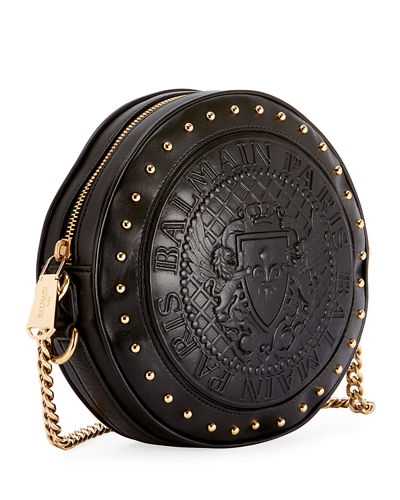 Disco Leather Circle Crossbody Bag