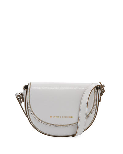 Flap Leather Crossbody Belt Bag