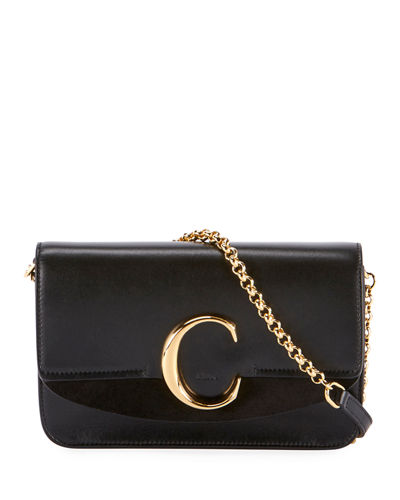 C Mini Shiny Calf Shoulder Bag