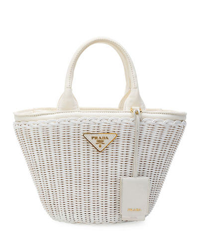 Wicker and Canapa Tote Bag
