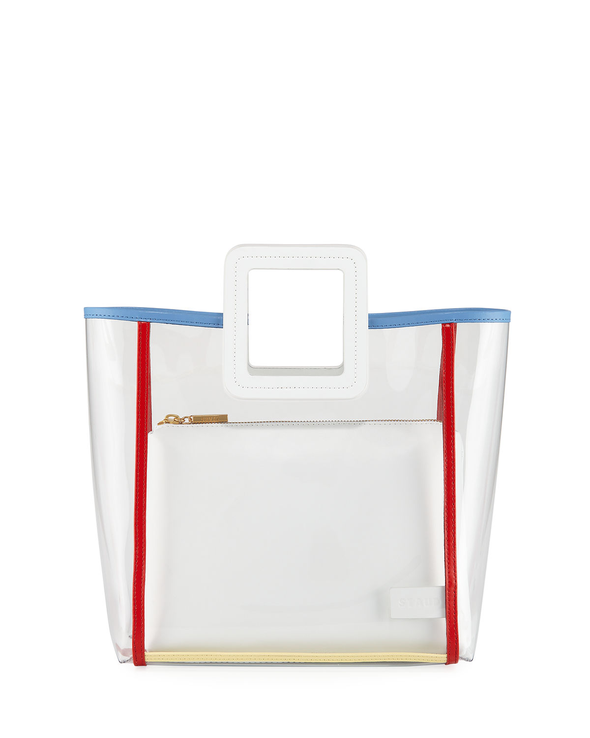 Staud Totes SHIRLEY FRAMED PVC AND LEATHER TOTE BAG