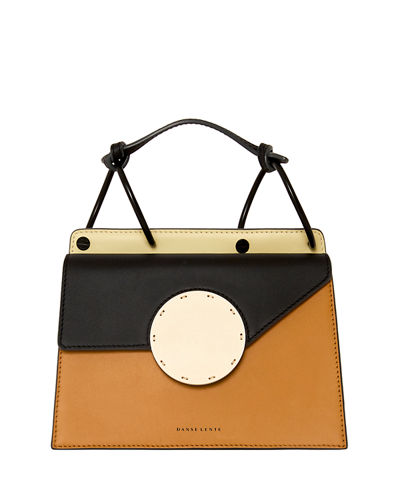 Phoebe Bis Leather Coil-Top Satchel Bag