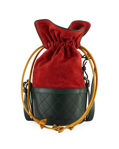 Suede and Leather Bucket Bag