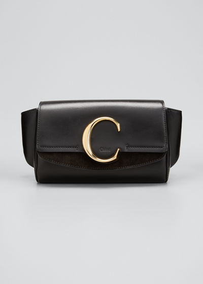 C Shiny Leather Belt Bag