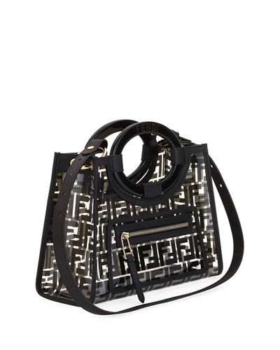69e6ee33d261 Fendi Runaway Small PVC Shopper Tote Bag