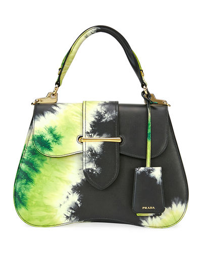 Tie-Dye Prada Sidonie Top-Handle Tote Bag