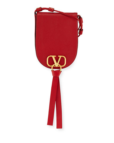 Vee Ring Small Crossbody Saddle Bag