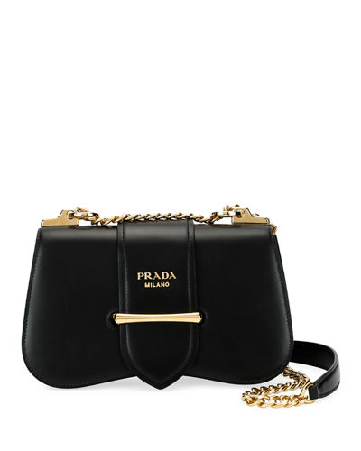 3b9f6258e310 Sidonie City Calf Crossbody Bag Quick Look. BLACK  WHITE  BROWN. Prada