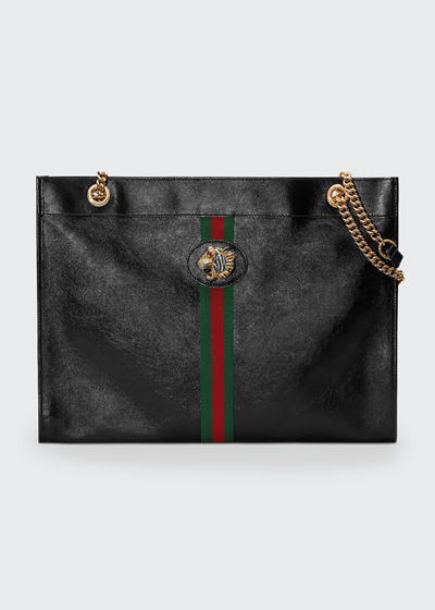 Rajah Large Leather Tote Bag