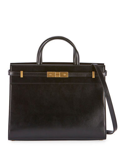Manhattan Small Smooth Leather Tote Bag