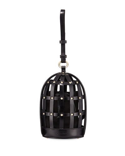 Bird Cage Leather Shoulder Bag