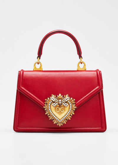 Devotion Mini Leather Top-Handle Bag