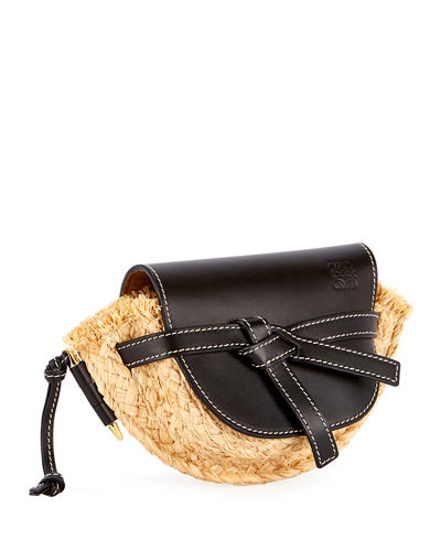 Gate Mini Raffia Shoulder Bag
