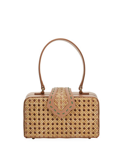 Mehry Mu Rattan Fey Top-Handle Box Bag