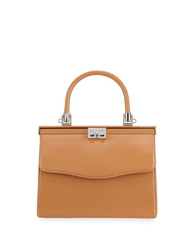Paris Leather Top-Handle Bag