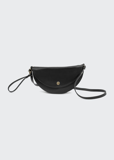 Leather Moon Crossbody Bag