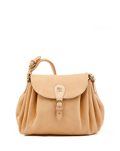 Leather Curly Shoulder Bag
