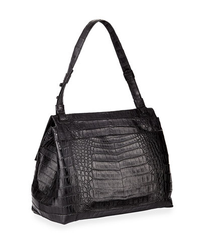 Sophie Crocodile Shoulder Bag