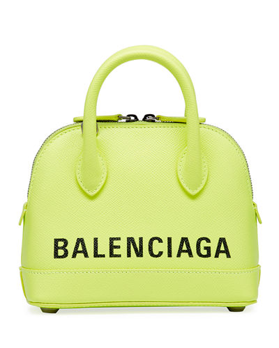 29a9e141434 Ville XXS AJ Top-Handle Bag with Logo Quick Look. GREEN  PINK. Balenciaga