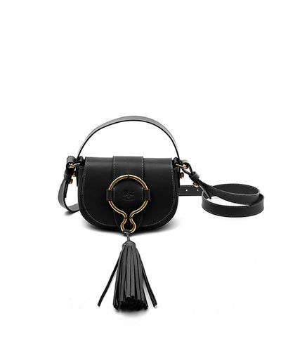 Leather Loop Crossbody Bag