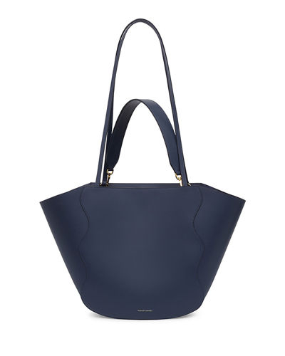 Calf Leather Ocean Tote Bag