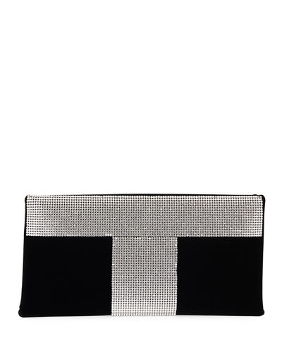 Velvet and Crystal Clutch Bag