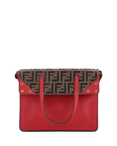 2f7c154b17 Grace FF Flip Small Tote Bag Quick Look. RED PATTERN. Fendi