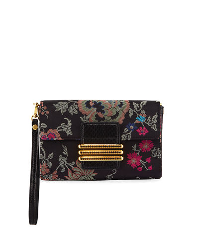 Rainbow Jacquard Clutch Bag