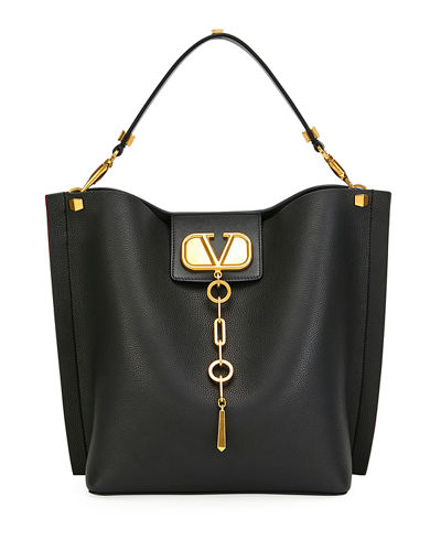 VLOGO Escape Small Leather Hobo Bag