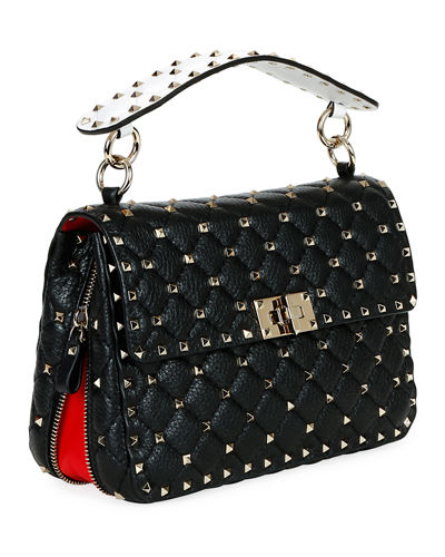 Spike Up Medium Napa Shoulder Bag