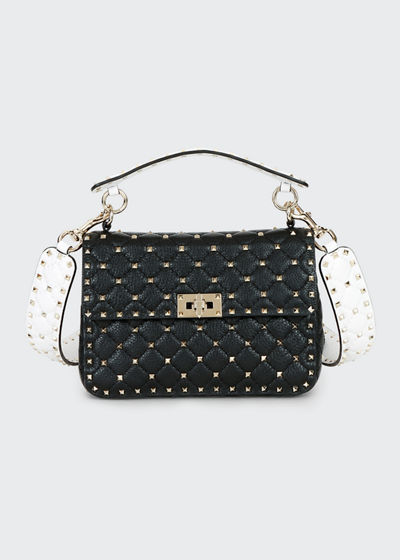 1cab996915e Spike Up Medium Napa Shoulder Bag Quick Look. BLACK/WHITE; WHITE PATTERN.  More Colors Available More Colors Available · Valentino Garavani