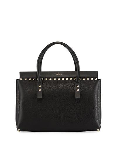 Rockstud Small Double Handle Tote Bag
