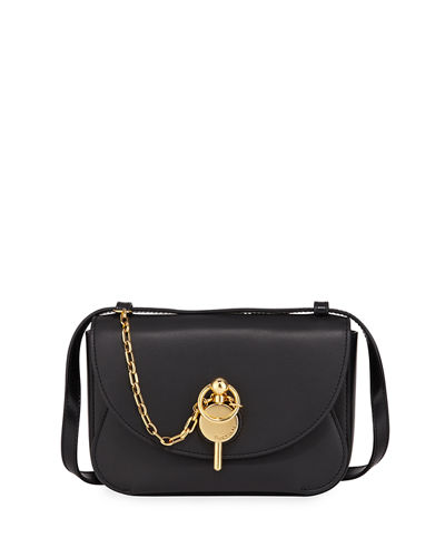 Mini Keys Buffed Leather Crossbody Bag