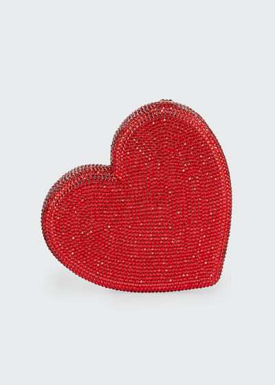 Heart Fully Beaded Clutch Bag