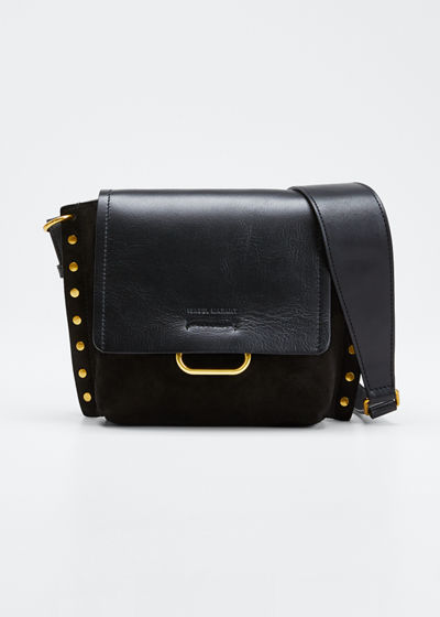 Kleny Leather Studded Shoulder Bag